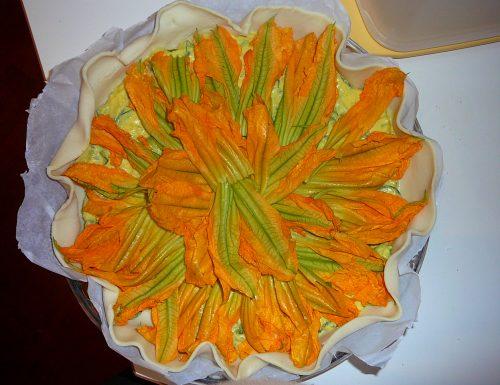 Zucchini  Flower Quiche
