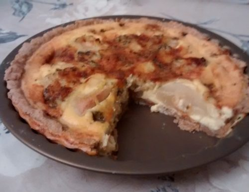 Cheese and Pear Quiche