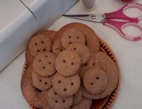 Buckwheat Hazelnut Button Cookies