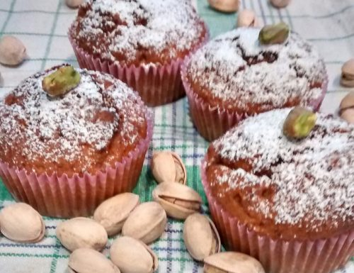 Pistachio Muffins with Surprise Center