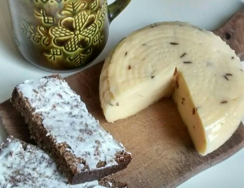 Sweet Sour Latvian Rye Bread with Janu Siers  (Summer solstice cheese)