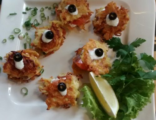 Potato Latkes with Salmon