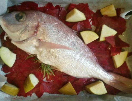 Sea Bream with Apples and Beets