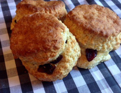 Quick Cranberry Cream Scones