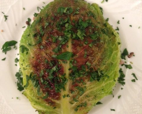 Lentil Stuffed Savoy Cabbage