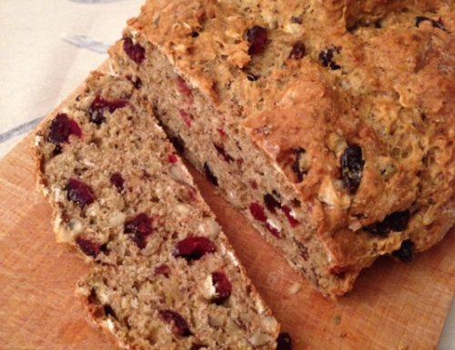 Cranberry and Hazelnut Soda Bread