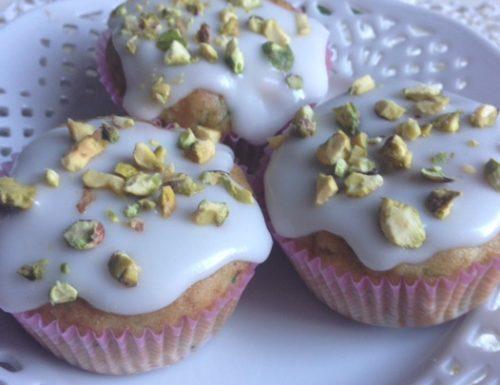 Aquafaba Zucchini Lime and Pistachio Cupcakes