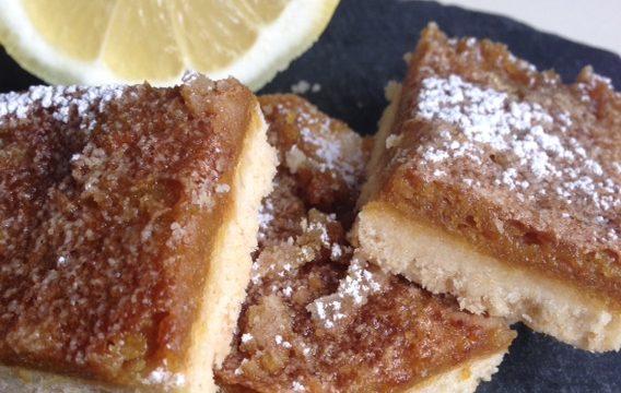 Aquafaba Lemon Almond Bars