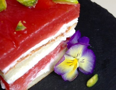 Watermelon Almond Torte