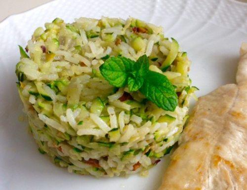 Zucchini Pistachio Rice Cakes