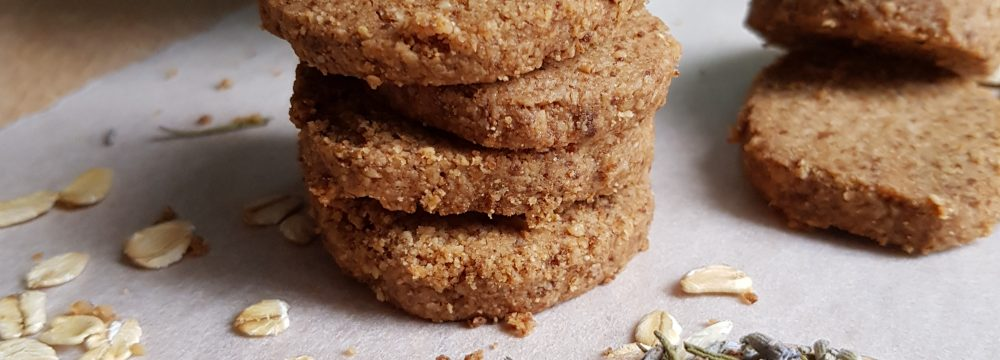 Slice-and-Bake Lavender Oatmeal Breakfast Cookies