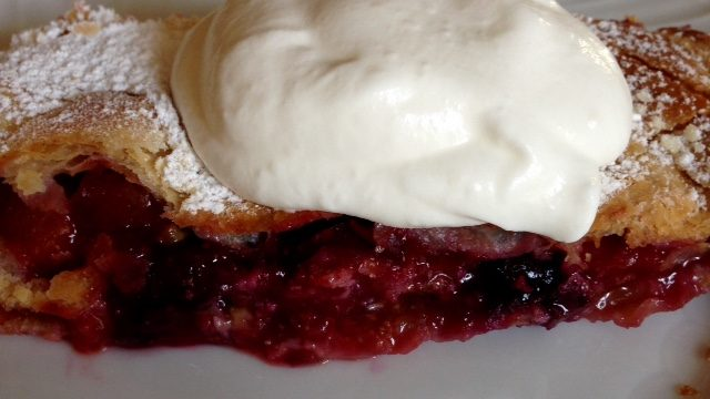 Blueberry Plum Strudel