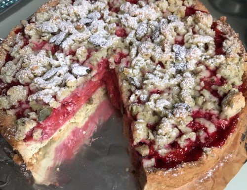 Strawberry Crumble Pie with Pepitas
