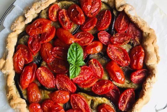 Eggplant Parmigiana Savory Pie