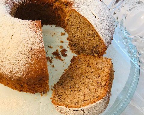 Cinnamon Walnut Chiffon Cake