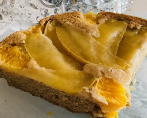 Light Orange Apple Cake