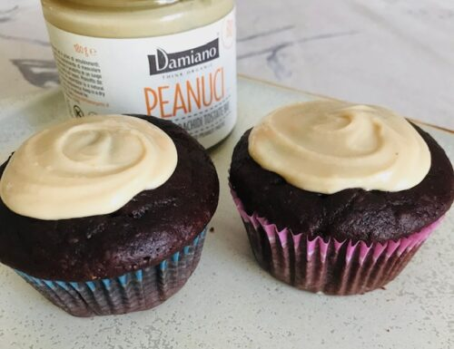 Easy One Bowl Chocolate Cupcakes with Peanut Butter Icing